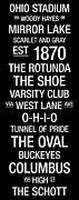 Club Posters - Ohio State College Town Wall Art Poster by Replay Photos