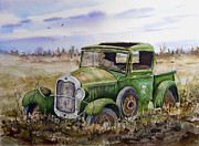 Pickup Truck Framed Prints - Old 29 Framed Print by Sam Sidders