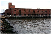 Old Brooklyn Pier Warehouse Print by Dora Sofia Caputo