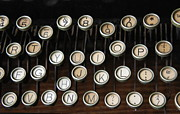 Typewriter Photos - Old Keys by Laurie Perry