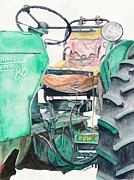 Old Tractors Paintings - Old Oliver by Gary Roderer