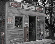 Old Cabins Digital Art - Old Service Station by Barry Westmoreland