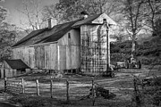 Old Barns Framed Prints - Old Timer Framed Print by Bill  Wakeley