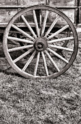 Schooner Metal Prints - Old Wagon Wheel Metal Print by Olivier Le Queinec