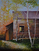 Barn In The Woods Posters - Old Wooden Barn Poster by Martin Schmidt