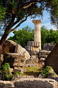 Columns Of Greece Framed Prints - Olympia Ruins Framed Print by Brian Jannsen