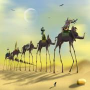 Dali Like Digital Art Posters - On the Move Poster by Mike McGlothlen