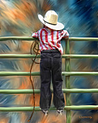 Cowboy Digital Art Prints - One Day Soon Print by Robert Albrecht