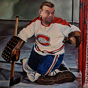 Goalie Prints - One Gets Past the Gumper Print by Victor Bonderoff