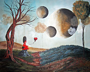 Surreal Landscape Posters - One Wish At A Time by Shawna Erback Poster by Shawna Erback