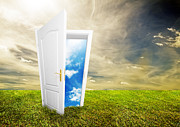 Concept Design Posters - Open door to new life Poster by Michal Bednarek