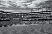 Black And White Ball Park Framed Prints - Oriole Park at Camden Yards Stadium Framed Print by Susan Candelario