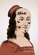Photo Researchers - Ornamental Patches On Face 17th Century