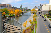 Ottawa Framed Prints - Ottawa Autumn Framed Print by Charline Xia