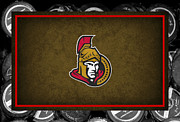 Puck Framed Prints - Ottawa Senators Framed Print by Joe Hamilton