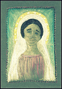 Jesus Pastels Prints - Our Lady Print by Lyn Blore Dufty