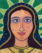 Queen Mary Paintings - Our Lady of Guadalupe by Danielle Tayabas