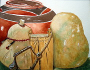 Gourds Paintings - Out Of Africa by Vivian ANDERSON