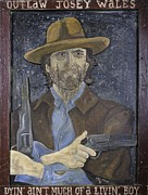 Clint Eastwood Art Paintings - Outlaw Josey Wales by Eric Cunningham