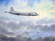 Lockheed Aircraft Paintings - P-3 Orion by Bill Holkham