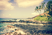 Secret Beach Prints - Paako Beach Makena Maui Hawaii Print by Sharon Mau