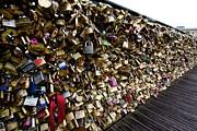 BERNARD JAUBERT - Padlocks on The Pont des Arts. Paris. France