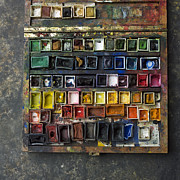 Creativity Metal Prints - Paint box Metal Print by Bernard Jaubert