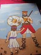 David And Goliath Paintings - Painting by Christina Stewart