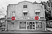 Selective Color Framed Prints - Papas PoBoy Shop Framed Print by Scott Pellegrin