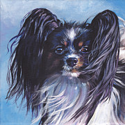 Papillon Dog Paintings - Papillon by Lee Ann Shepard