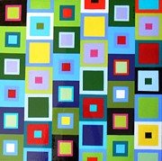 Boxes Paintings - Paradigm by Ivy Stevens-Gupta