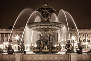 Art Of Building Prints - Paris Fountain Print by Brian Jannsen
