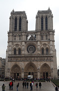 Paris France - Notre Dame De Paris - 01134 Print by DC Photographer