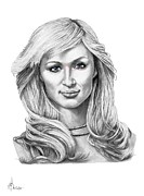 People Drawings Originals - Paris Hilton by Murphy Elliott