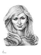 Paris Hilton Print by Murphy Elliott
