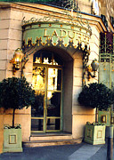 Eateries Prints - Paris Laduree French Bakery Patisserie - Champs Elysees Location Print by Kathy Fornal