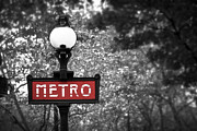 Sign Photo Posters - Paris metro Poster by Elena Elisseeva
