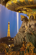 Art Of Building Prints - Paris Twilight Print by Brian Jannsen