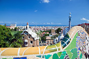 Park Guell In Barcelona Print by Michal Bednarek
