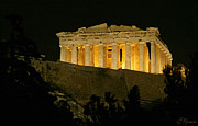 Ancient Greek Ruins Prints - Parthenon Print by Ellen Henneke
