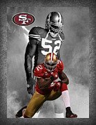 Offense Framed Prints - Patrick Willis 49ers Framed Print by Joe Hamilton