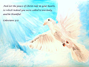Peace Doves Paintings - Peace by Amanda Dinan