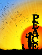 Play Prints - Peace Print by Tim Gainey