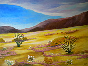 Verbena Paintings - Peaceful Desert by Louisa Bryant