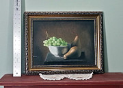 Joe Ogle Paintings - Pears and Grapes by Joseph Ogle