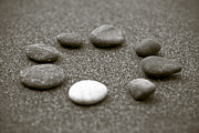 Buddhism Photos - Pebbles by Frank Tschakert