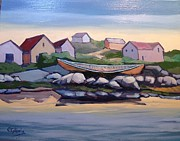 Canoe Originals - Peggys Cove by Edward Abela