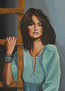 Mother Teresa Paintings - Penelope Cruz by Paul  Meijering