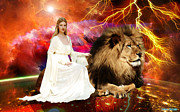 Lion Of Judah Posters - Perfect protection Poster by Dolores DeVelde
