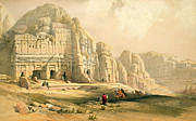 Architecture Painting Posters - Petra Poster by David Roberts